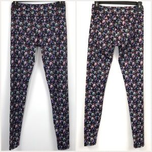 Onzie Athletic Leggings Floral Yoga Pants Sz XS